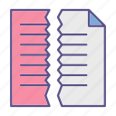 file, cut, documents, office icon