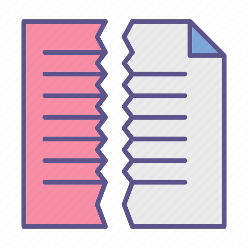 cut, documents, file, office icon