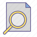 searching, document, documents, office, loop icon