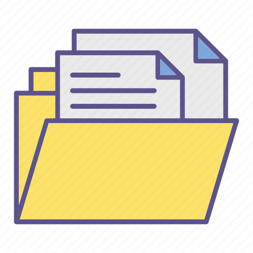 documents, files, folder, office, storage icon