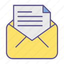mail, message, documents, office icon