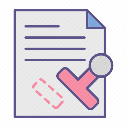 documents, office, seal, stamp icon