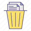 recycle, documents, trash, office icon