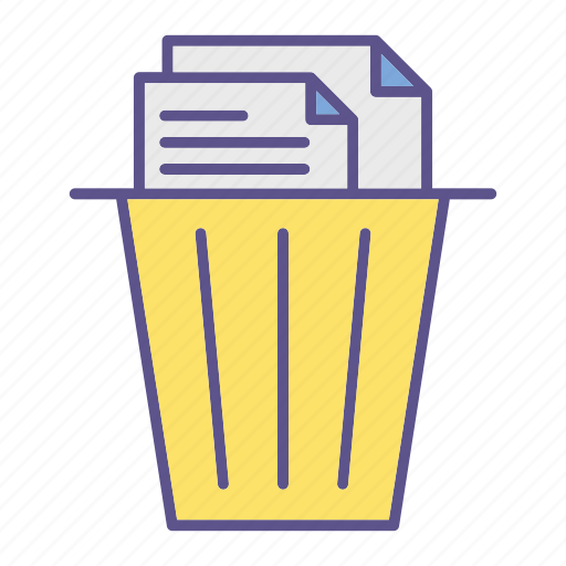 documents, office, recycle, trash icon