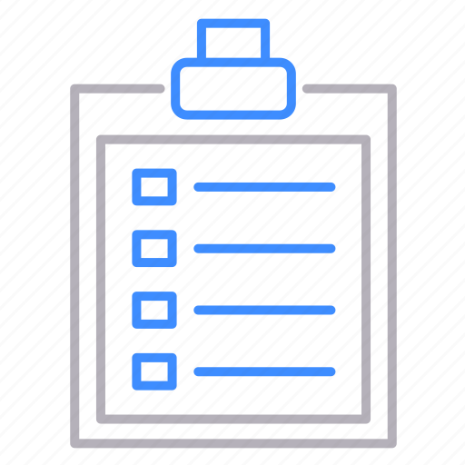 clipboard, documents, office, survey icon