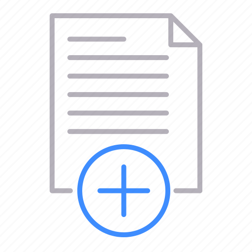 add, documents, office, plus icon