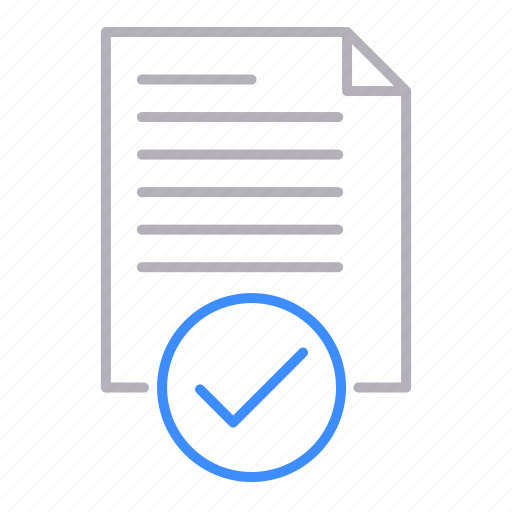 approved, checkmark, documents, office, ok icon