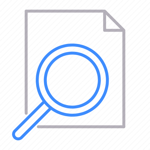 documents, loop, office, searching icon