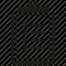 clipboard, data, document, file, paper icon