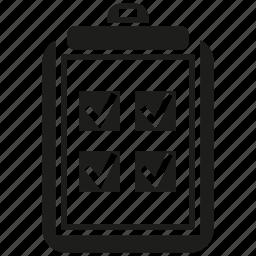 check, clipboard, document, file, paper, tick icon