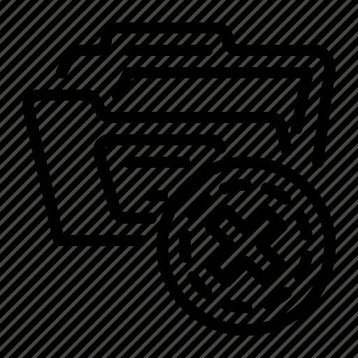 delete folder, document, file, folder icon