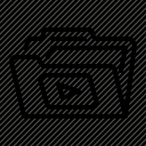 document, file, folder, multimedia icon