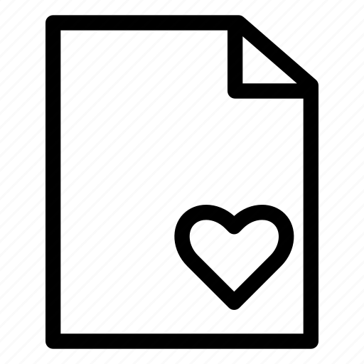document, file, folder, loved, management, office icon
