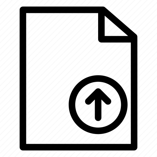 document, file, folder, management, office, upload icon