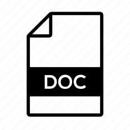 doc, document, file, microsoft, word icon
