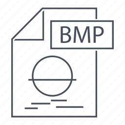 bitmap, bmp, document, extension, file, format, line icon icon