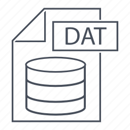dat, data, database, extension, file, format, line icon icon