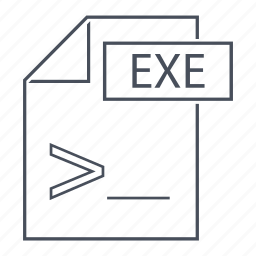 compiler, computer, exe, extension, file, format, line icon icon
