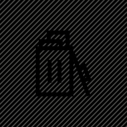bin, delete, empty, recycle, trash icon