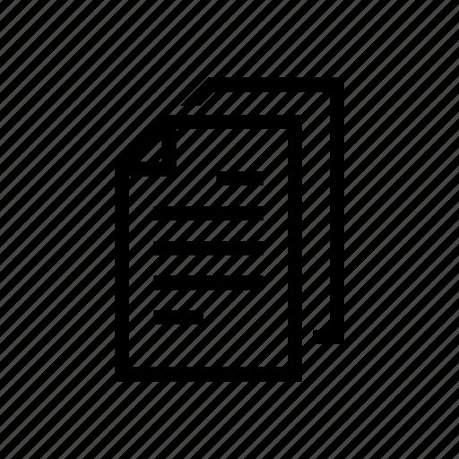 document, examine, file, paper icon