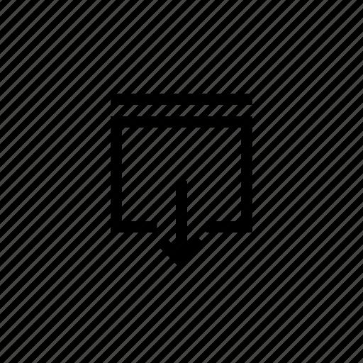 arrow, download, interface, svae icon