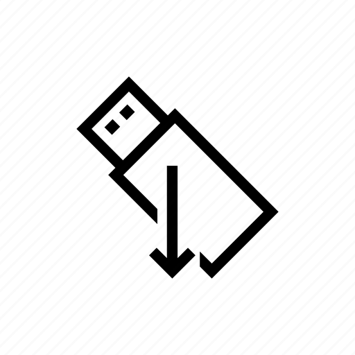 data, download, flash drive, save, usb icon