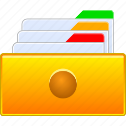 archive, card file, data storage, directory, documents, files, user accounts icon