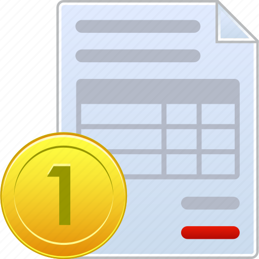 bill, certificate, dollar, invoice, order, payment, receipt icon