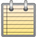 blank, notepad, notes, office, page, paper, sheet icon
