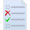 checklist, data, lists, page, record, task list, text icon