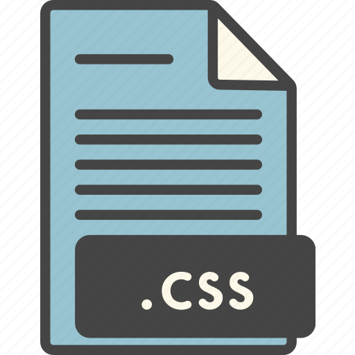 css, doc, document, extension, file, format, types icon
