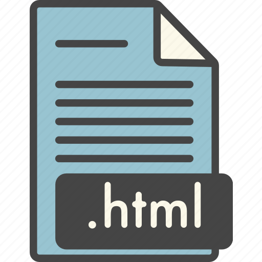 doc, extension, file, file type, html, page, types icon