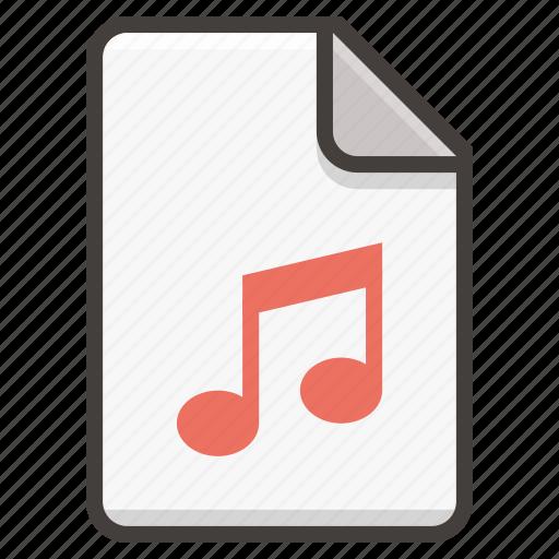 audio, document, file, music, sound icon