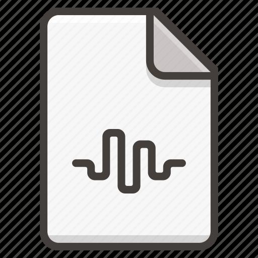 audio, document, file, music, sound, wave icon