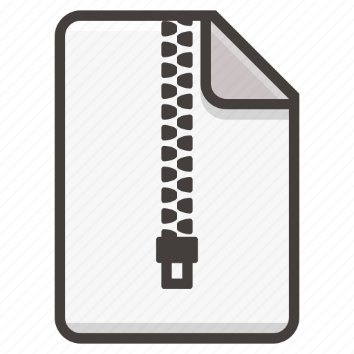 Document, archive, file, zip icon - Download on Iconfinder