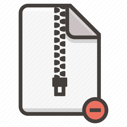 Document, archive, file, remove, zip icon - Download on Iconfinder