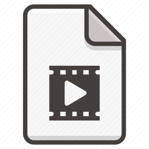 document, file, media, movie, play, video icon