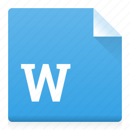 doc, document, file, type, word icon