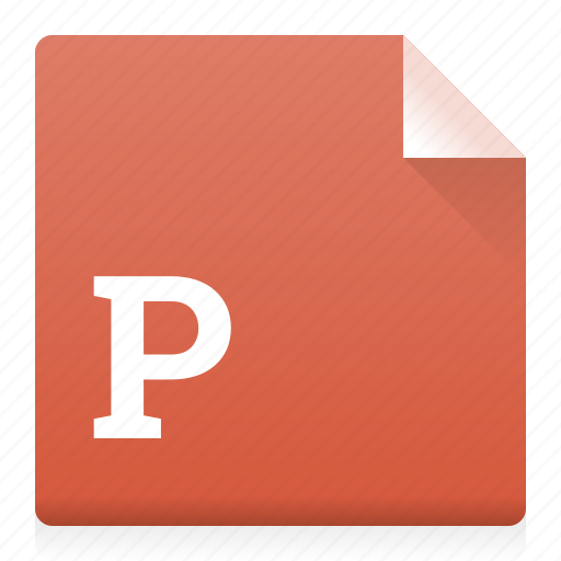 document, file, power point, ppt, type icon