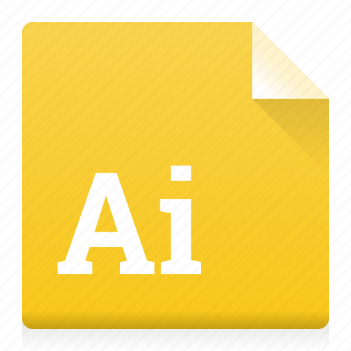 ai, document, file, illustrator, type icon