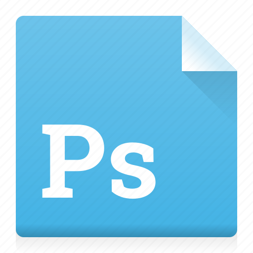 document, file, photoshop, ps, type icon