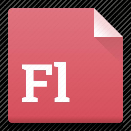 adobe, document, file, fl, flash, type icon