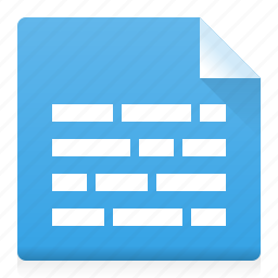 alignment, document, file, text, type, word icon