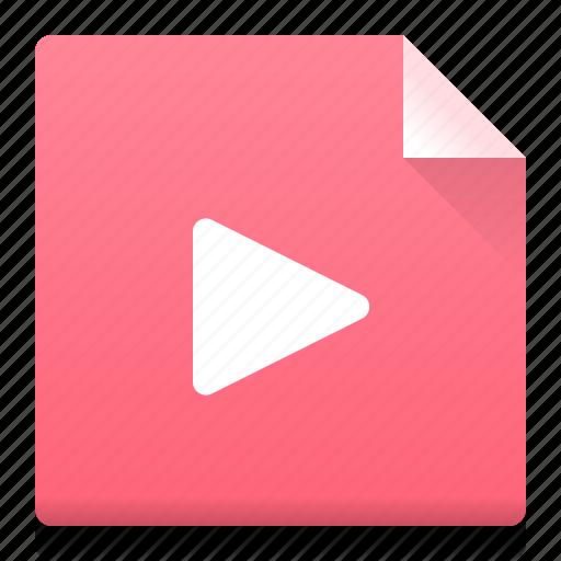 document, file, play, presentation, slide, type icon