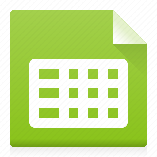 data, document, excel, file, table, type icon