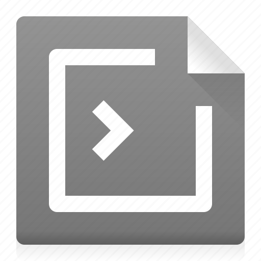 application, code, document, file, programm, terminal, type icon