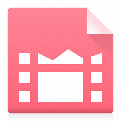 document, file, film, frame, movie, type icon