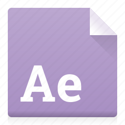 adobe, after effect, document, file, type icon