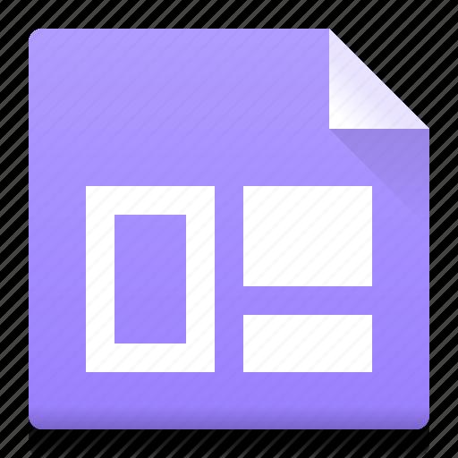 block, document, file, layout, prototype, type icon