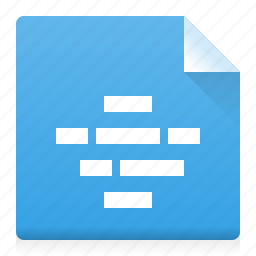alignment, center, document, file, text, type, word icon